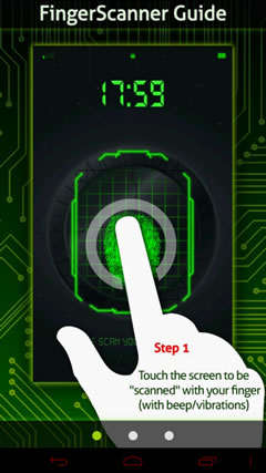 Finger Scanner Lock screenshot 1