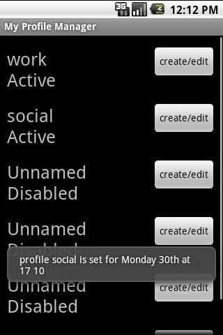 My Profile Manager screenshot 1