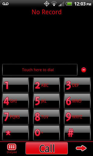 GO Contacts Black & Red Theme screenshot 1