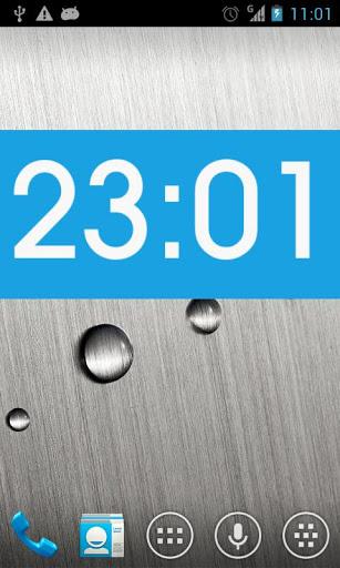 Metro clock uccw skin screenshot 1