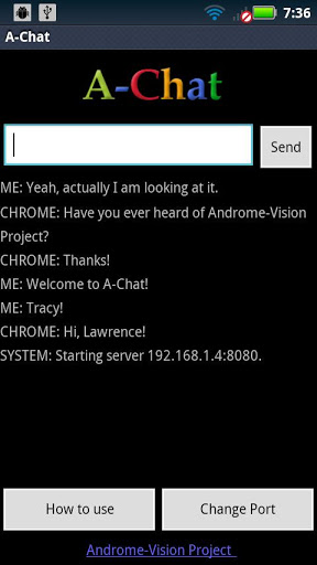 A-Chat. Androme-Vision Project screenshot 4