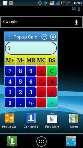 Popup Calc BETA screenshot 1