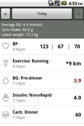 Glucool Diabetes screenshot 1