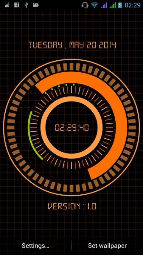 Animated Digital Clock Free screenshot 4