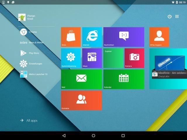Metro UI Launcher 10 स्क्रीनशॉट 5