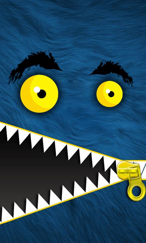 Monster Zipper Lock Screen 2 تصوير الشاشة