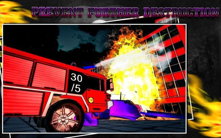 Firefighter Fire Truck Rescue स्क्रीनशॉट 4