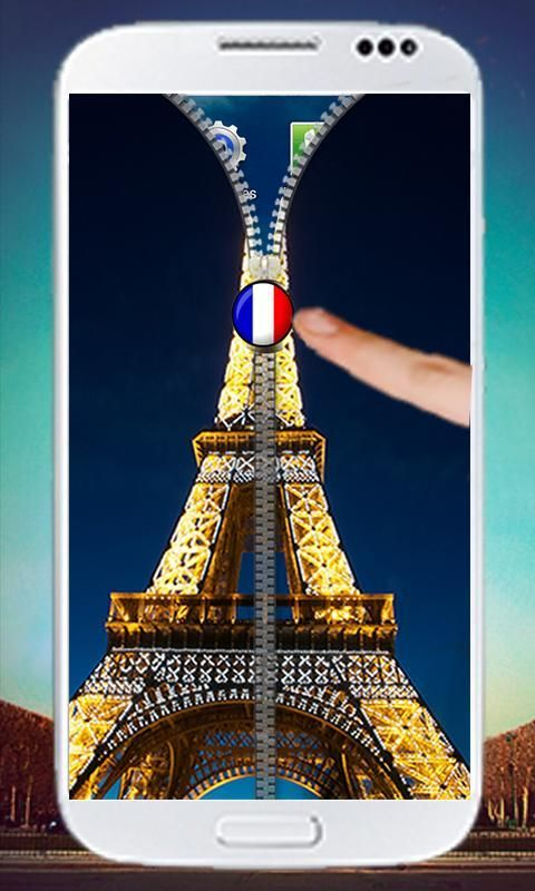 Paris Zipper Screen Lock 4 تصوير الشاشة