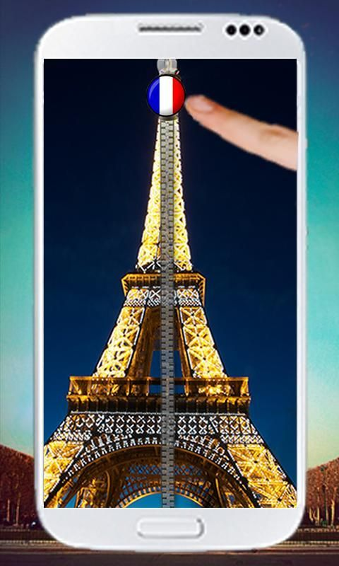 Paris Zipper Screen Lock 5 تصوير الشاشة