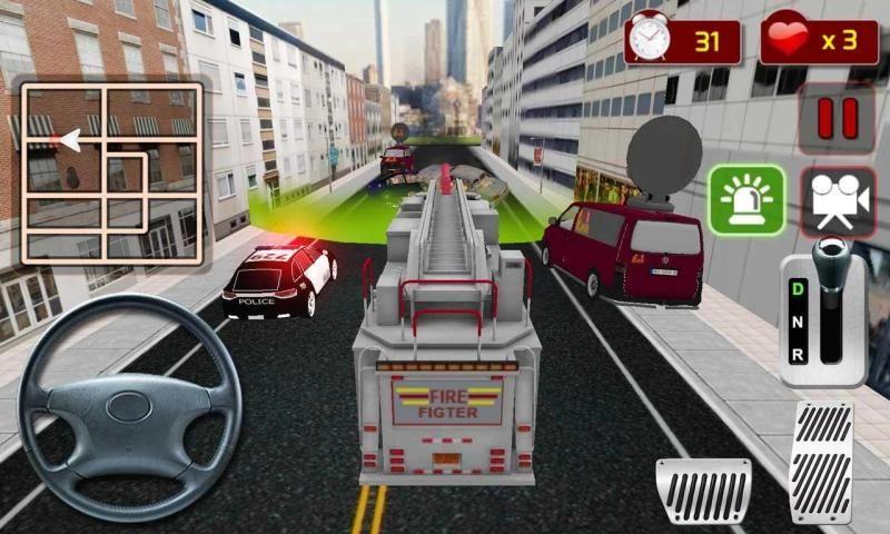 फायर फाइटर ट्रक सिम्युलेटर स्क्रीनशॉट 3