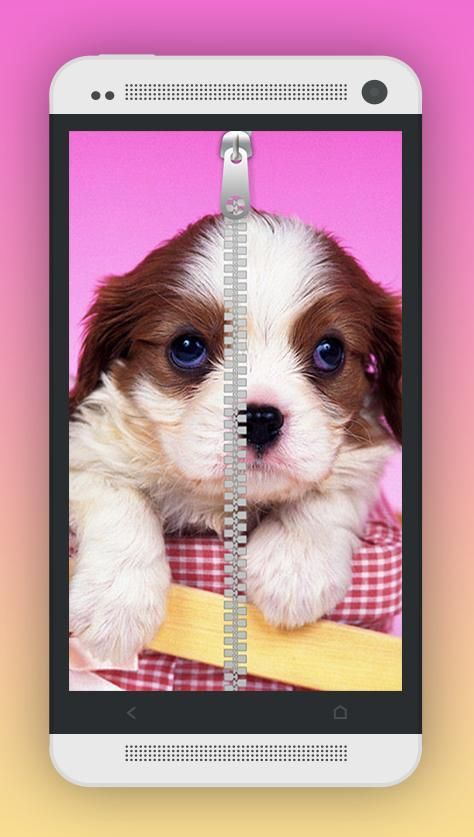 Cute Puppy Zipper Screen Lock 6 تصوير الشاشة