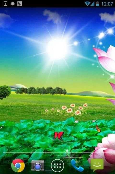 Lotus Live Wallpaper screenshot 4