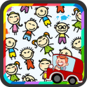 School bus: Children coloring أيقونة