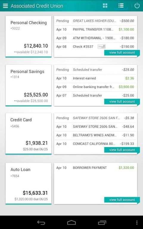Associated Credit Union Mobile screenshot 9