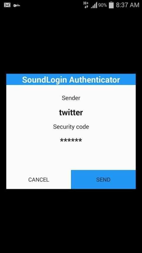 SoundLogin Authenticator screenshot 4