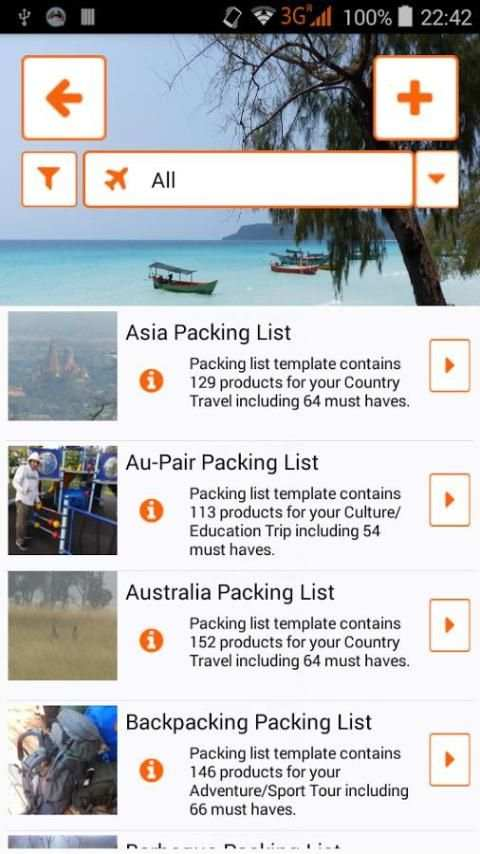 Packnomad - pack your bag screenshot 2