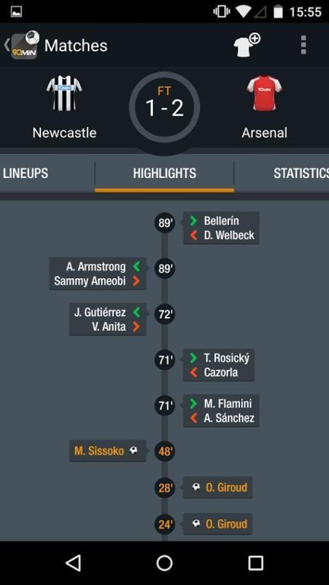 90min - Live Soccer News App 4 تصوير الشاشة