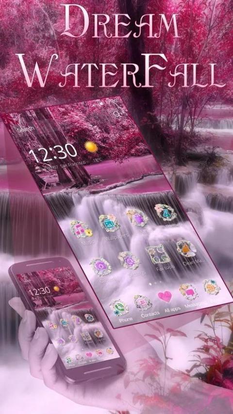 Dream Waterfall Live Theme screenshot 5