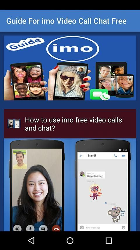Guide For imo Video Call Chat screenshot 1