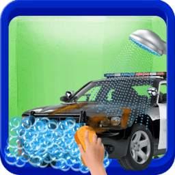 Messy Police Car Wash Salon