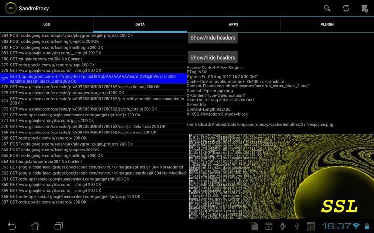 SandroProxy screenshot 1
