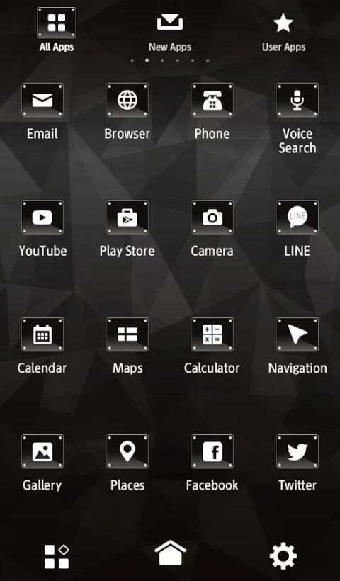 Black +HOME Theme screenshot 2