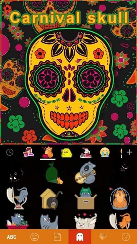 Carnival Skull Kika Keyboard screenshot 5