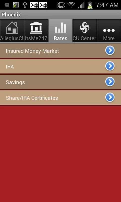 Allegius Credit Union screenshot 1