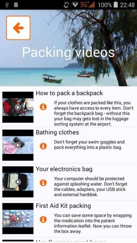 Packnomad - pack your bag screenshot 6