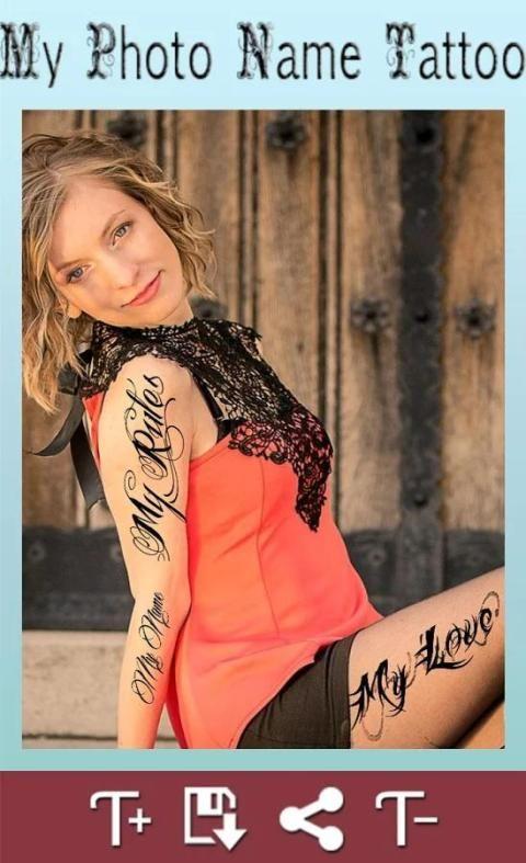 My Photo Name Tattoo Editor 1 تصوير الشاشة
