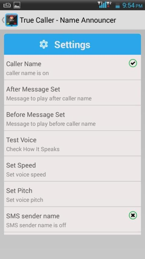 TrueCaller-Name Announcer 3 تصوير الشاشة