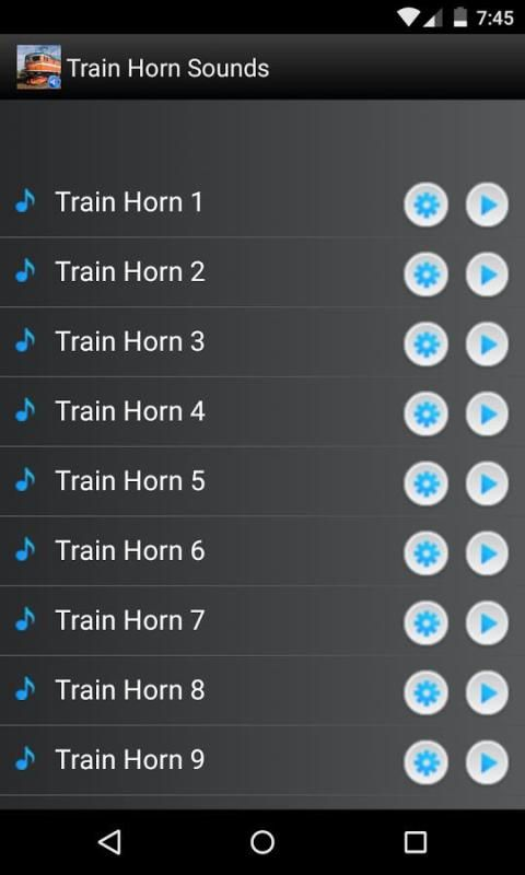 Train Horn Sounds Ringtones screenshot 5