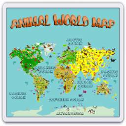 Animal World Map 6 -12 years