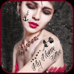 My Photo Name Tattoo Editor أيقونة