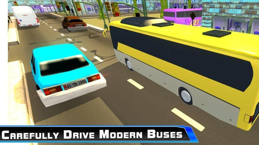 Modern City Tousrist Bus 3D screenshot 8