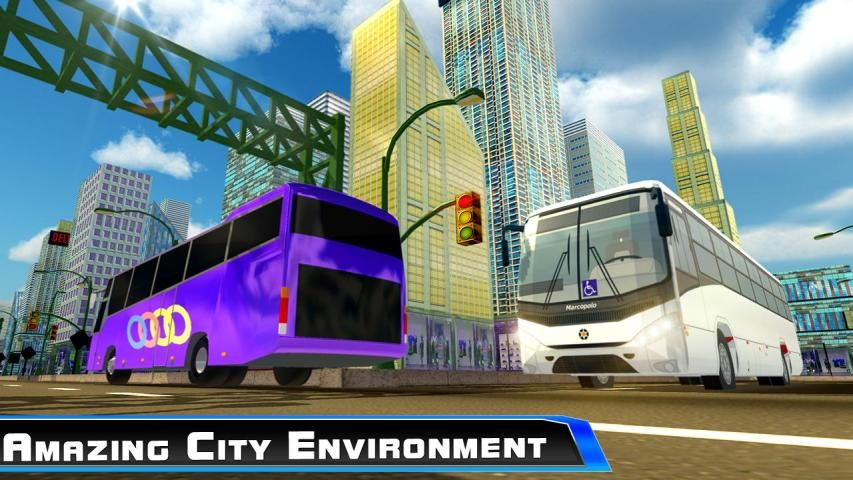 Modern City Tousrist Bus 3D screenshot 7