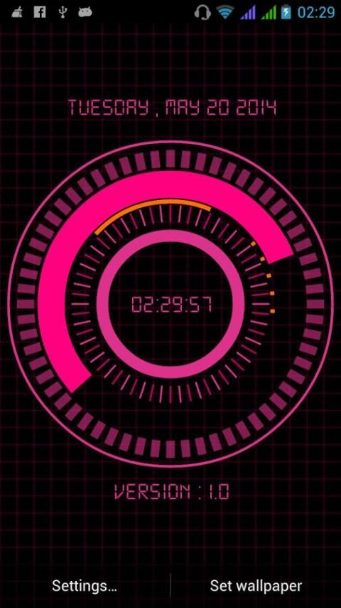 Animated Digital Clock Free screenshot 3