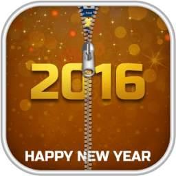New Year 2016 Zipper Lock