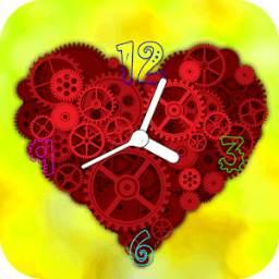 Heart Clock Live Wallpaper