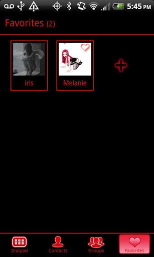 GO Contacts Black & Red Theme screenshot 5