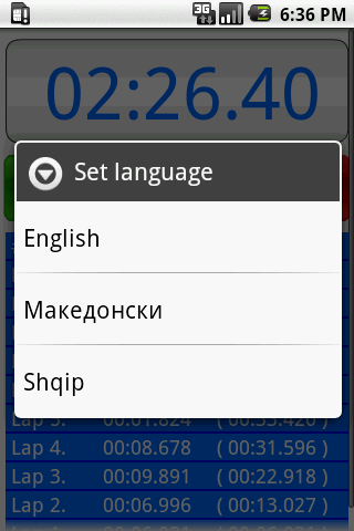 Stopwatch screenshot 2
