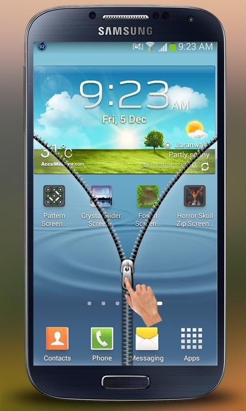 Transparent Zipper Screen Lock 2 تصوير الشاشة