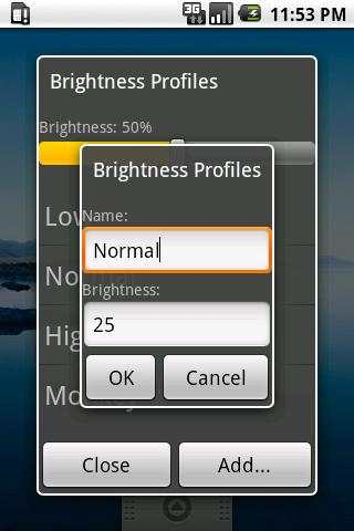Brightness Profiles screenshot 2