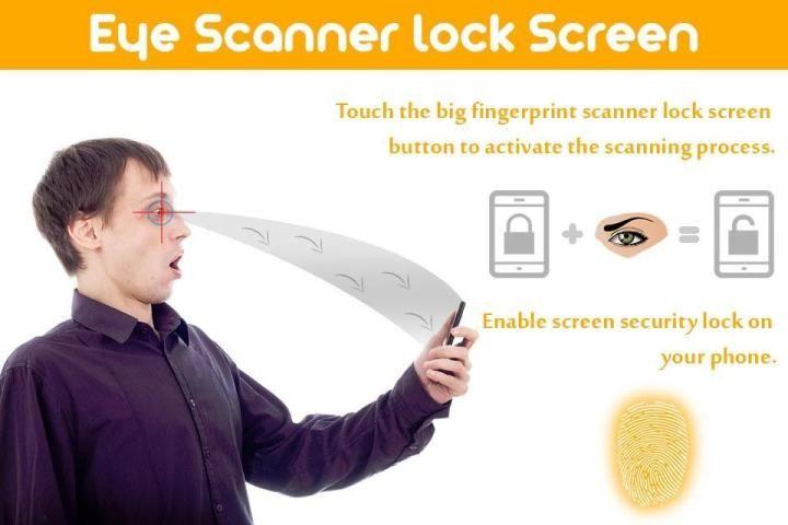 Eye Scanner Lock Screen Prank screenshot 6