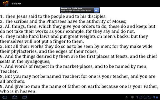 Bible HD for Tablets screenshot 2