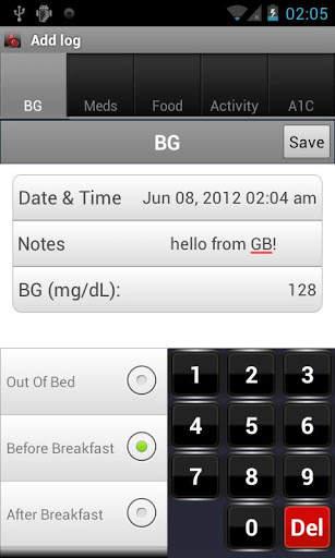 Glucose Buddy : Diabetes Log screenshot 2