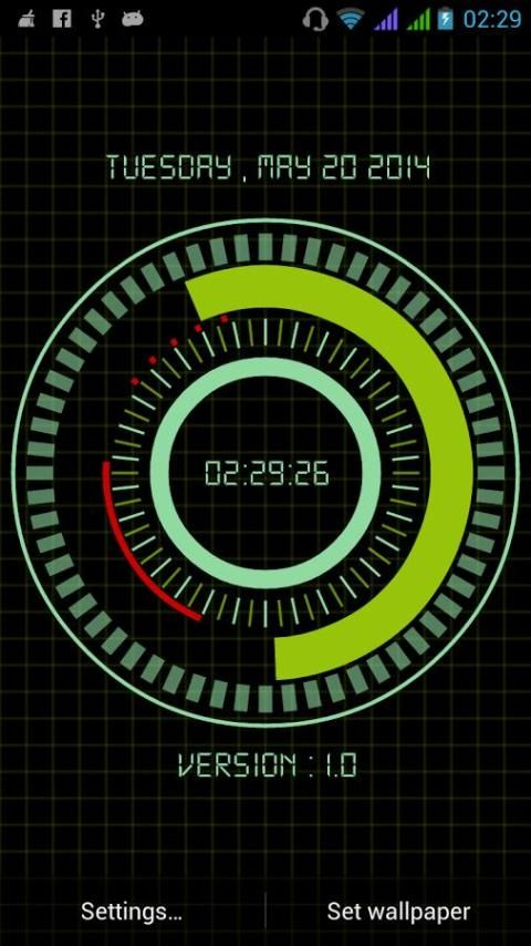 Animated Digital Clock Free screenshot 5