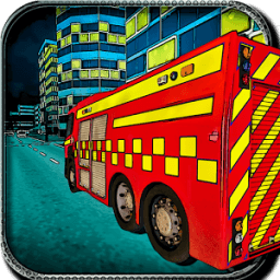 Firefighter Fire Truck Rescue आइकन