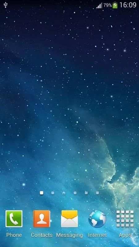 Galaxy Parallax Live Wallpaper 5 تصوير الشاشة