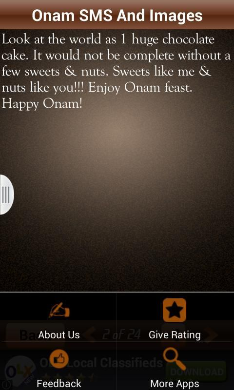 Onam SMS And Images Wishes Msg 7 تصوير الشاشة